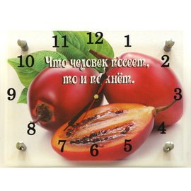 """Часы настенные малые """"Что человек посеет, то и пожнет"""" (код 46)"""