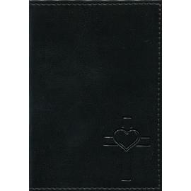 """Обложка на автодокументы """"Крест с сердцем"""" (черная)"""