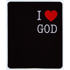 Коврик для мыши 22х18см - I love God