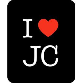 Коврик для мыши 22х18см - I love JC