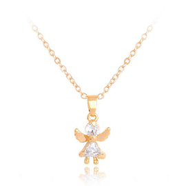 Кулон - Ангел с золотыми крыльями