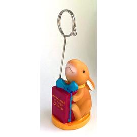 Подставка-зажим для фото, поликерамика - Милостив и щедр Господь, (кролик)