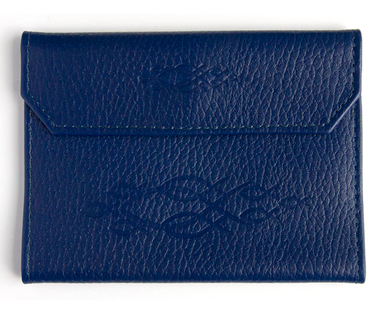 """Обложка на паспорт из натуральной кожи на кнопке """"Стайка рыбок"""" (цвет в ассортименте)"""